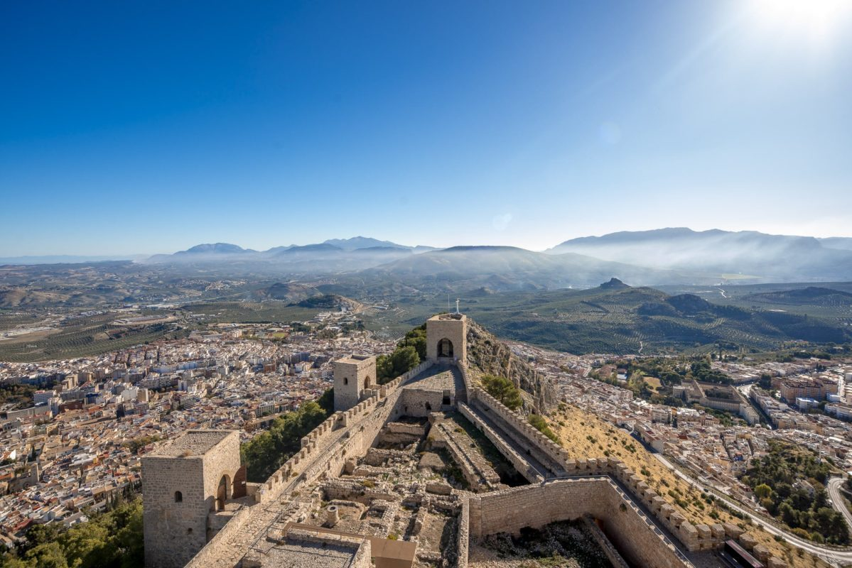 Panorámica desde la torre del castillo de Jaén /// Panoramic view from a tower of the castle of Jaen