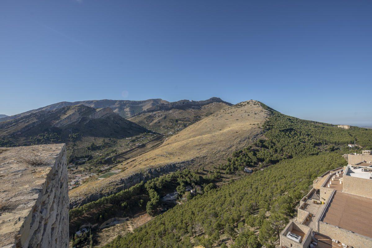Las montañas del parque periurbano Santa Catalina