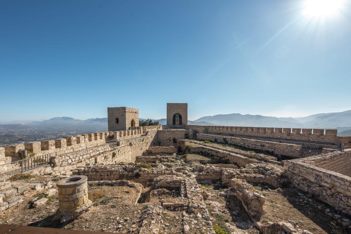 Restos arqueológicos en el castillo Santa Catalina de Jaén