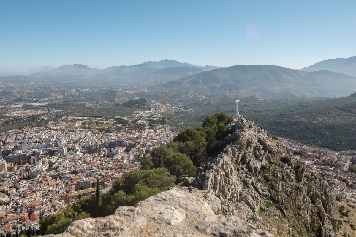 Vistas panorámicas desde el mirador de la cruz de Jaén